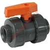 Rouge compact - Robinet PVC A Bille  - 40 mm  - (Oceanstore)
