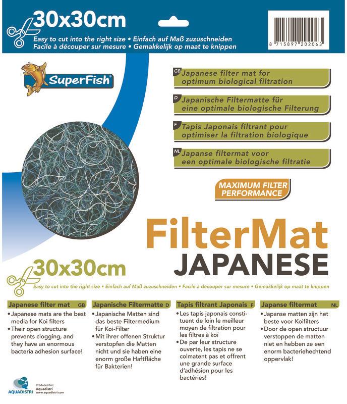 Tapis De Filtration Tapis Japonais 30x30 Cm Superfish